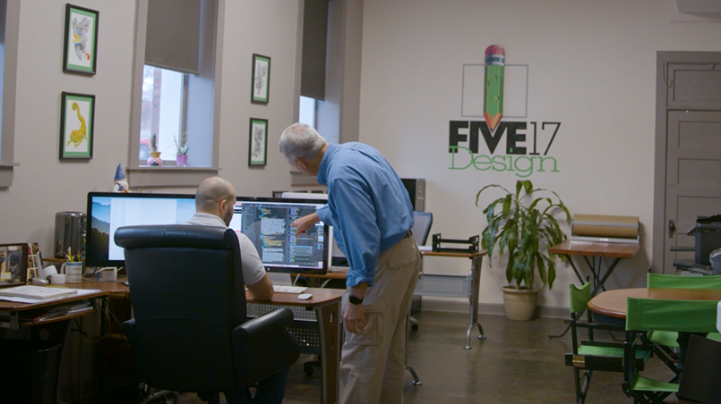 Entry way to Five17 Design